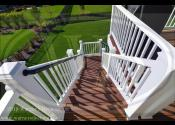 Geneva, IL 60134  Trex Select Saddle Decking Trex Select White Railings Trex Trim White Facia and risers