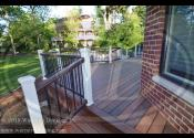 Naperville, IL 60540  Mirrite Ipe Decking & Boarder Trex Vintage Lantern Railings Trex White Posts Black Round Aluminum Balusters Mirrite Ipe Vertical skirting