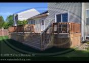 Oswego, IL 60543  Custom Cedar Deck Cedar Vertical Skirting