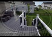 Geneva, IL 60134  Trex Transcends Island Mist Decking Trex Transcends Island Mist Border Trex Transcends Island Mist Fascia and Risers Trex Transcends White Posts & Railings Trex Black Square Aluminum Balusters Trex Transcends LED White Cap Lights