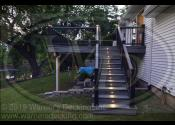 Plainfield, IL 60585  Trex Transcends Island Mist Decking Trex Transcends Island Mist Fascia and Risers Trex Transcends Black Railings Trex Black Square Aluminum Balusters Trex Black Risers lights Trex Transcends LED Black Cap Lights