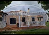 New Lenox, IL 60451  White Fiberglass Pergola Over Existing Deck
