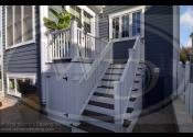 Naperville, IL 60540  Trex Transcend Spiced Rum Decking Trex Transcend White Railing, Skirting, Balusters, and Fascia
