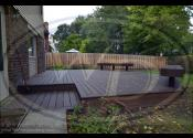 Arlington Heights, IL  Trex Transcend Spiced Rum Decking Trex Transcend Spiced Rum Fascia, Border, Bench