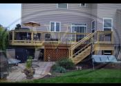 Aurora, IL   Treated Deck Trex Black Round Aluminum Balusters