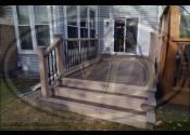 Naperville, IL  Trex Transcend Spiced Rum Decking Trex Transcned Rope Swing Railings