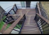 Chicago, IL 60647  Trex Transcend Spiced Rum Decking Trex Transcend Charcoal Black Railing