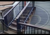 Chicago, IL - Decking: Trex Transcend Spiced Rum - Fascia: Trex Transcends Spiced Rum - Railing: Trex Transcend Black