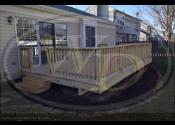 Aurora, IL  Treated Deck