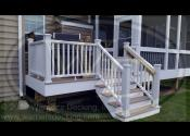 Aurora, IL  Trex Transcend Rope Swing Decking Trex Transcend White Fascia, Posts, Rails and Balusters
