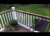 Oswego, IL  Trex Transcend Spiced Rum Decking Trex Transcend Treehouse Top Rail Trex Transcend White Posts, Balusters and Fascia