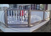 Orland Hills, IL  Trex Transcend Rope Swing Decking, Posts and Railings Trex Transcend White Fascia, Balusters Trex Riser Lights
