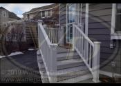 Glen Ellyn, IL 60137  Trex Transcend Gravel Path Decking Trex Transcend White Railings, Fascia and Balusters