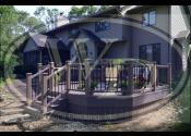 Morris, IL  Trex Transcend Rope Swing Decking and Railings Trex Transcend Black Aluminum Balusters